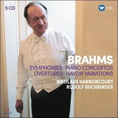 Nikolaus Harnoncourt 브람스: 교향곡, 피아노 협주곡, 서곡, 하이든 변주곡 (Brahms: Symphonies, Piano Concertos, Overtures, Haydn Variations) 니콜라우스 아르농쿠르, 루돌프 부흐빈더