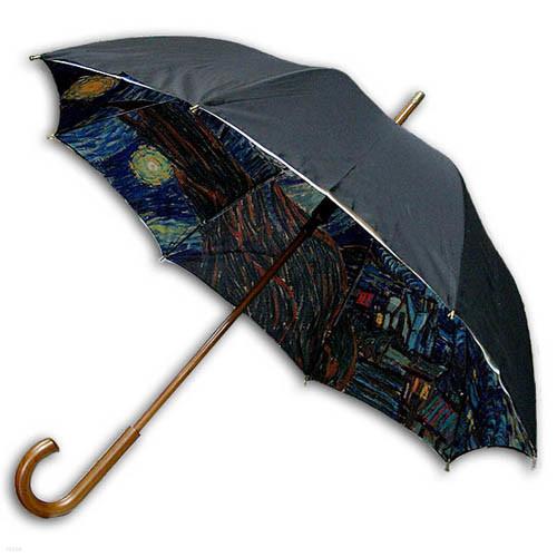 [ART] Hello RainCats 고흐_별이 빛나는 밤2(W) 이중자동 우산