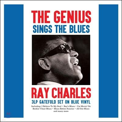 Ray Charles (레이 찰스) - The Genius Sings The Blues / The Blues Featuring Ray Charles Vol.1 & 2 [Blue Vinyl 3LP]