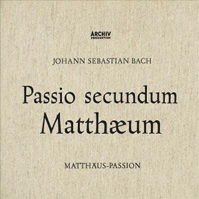 바흐: 마태 수난곡 (Bach: Matthaus-Passion. BWV244) (1958)(Ltd. Ed)(DSD)(3 SHM-SACD)(Single Layer)(일본반) - Karl Richter