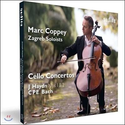 Marc Coppey 하이든: 첼로 협주곡 1번, 2번 / 칼 필립 에마누엘 바흐: 첼로 협주곡 - 마르크 코페이, 자그레브 솔로이스츠 (Haydn / C.P.E. Bach: Cello Concertos)