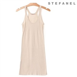 스테파넬/Cotton Knit Dress (S52KP080)