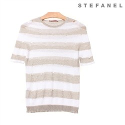 스테파넬/Striped Linen Knit (S52KP099)