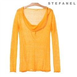 Draped Neckline T-shirt (S52KP002)