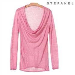 Draped Neckline T-shirt (S52KP007)