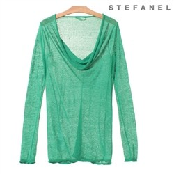 Draped Neckline T-shirt (S52KP009)