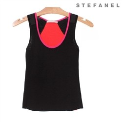 스테파넬/Color Edge Knit Top (S52AS026)