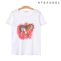 스테파넬/Tiger Cotton T-shirt (S52AS009)