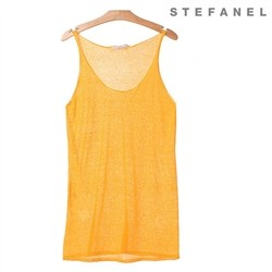 스테파넬/Long Fit Linen Top (S52TT033)