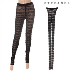 스테파넬/Mesh Slim Leggings (S52PT010)