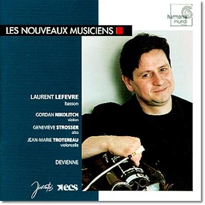 Laurent Lefevre 드비엔느: 바순 사중주 Oo.73 1-3번, 듀오 콘체르탄트 2 & 5번 (Francois Devienne: Bassoon Quartets, Duo Concertants)