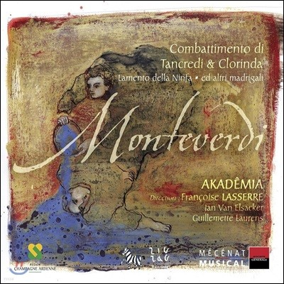 Francoise Lasserre 클라우디오 몬테베르디: 탄크레디와 클로린다의 싸움, 요정의 탄가 (Monteverdi: Il Combattimento di Tancredi e Clorinda)