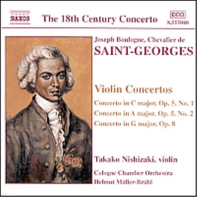 생상 : 바이올린 협주곡 1집 (Saint-Georges : Violin Concertos, Vol. 1) - Takako Nishizaki