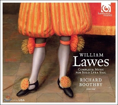 Richard Boothby 윌리엄 로스: 비올라 바스타르다[리라 비올] 독주 작품 전곡집 (William Lawes: Complete Music for Solo Lyra Viol) 리차드 부스비
