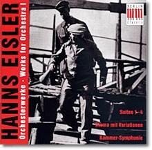 Eisler : Works For Orchestra, Vol. 1
