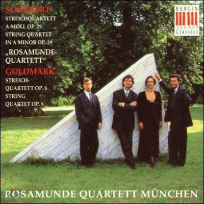 Rosamunde Quartett 슈베르트 / 골드마르크: 현악 사중주 - 로자문데 사중주단 데뷔 앨범 (Schubert: String Quartet Op.29 D.804 'rosamunde' / Goldmark : String Quartet Op.8)