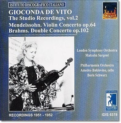 지오콘다 드 비토 1951~1952년 스튜디오 녹음 : 브람스 / 멘델스존 : 바이올린 협주곡
