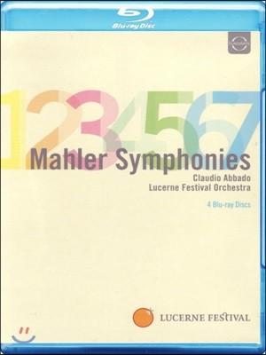 Claudio Abbado 말러: 교향곡 1-7번, 뤼케르트 가곡 - 클라우디오 아바도 [4 블루레이]