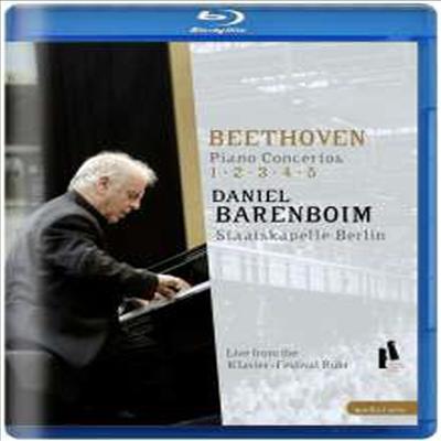 베토벤: 피아노 협주곡 1-5번 (Beethoven: Piano Concerto No.1-5) (2Blu-ray)(Blu-ray)(2016) - Daniel Barenboim