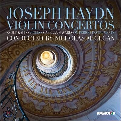 Zsolt Kallo / Nicholas McGegan 하이든: 바이올린 협주곡 (Haydn: Violin Concertos) 졸트 콜로, 카펠라 사바릴아, 니콜라스 맥게간