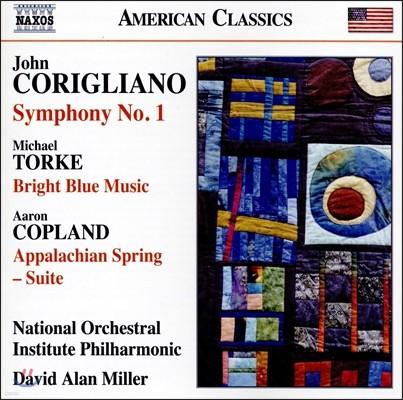 David Alan Miller 코릴리아노 / 토르케 / 코플랜드: 관현악 작품집 (Corigliano: Symphony No.1 / Torke: Bright Blue Music / Copland: Appalachian Spring Suite)