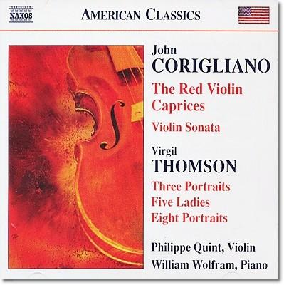 코릴리아노 : 레드바이올린, 바이올린소나타/ 톰슨 : 8개의 초상 외