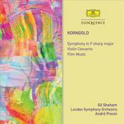 코른골트: 교향곡 & 바이올린 협주곡 (Korngold: Symphony In F Sharp Major, Op. 40 & Violin Concerto In D Major, Op. 35) (2CD) - Andre Previn