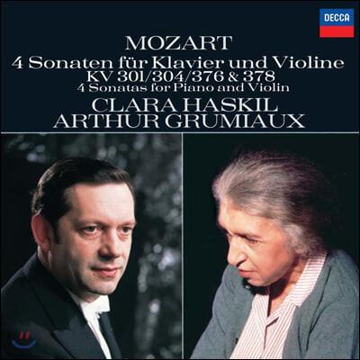 Clara Haskil/ Arthur Grumiaux 모차르트: 바이올린 소나타 - 클라라 하스킬, 아르투르 그뤼미오 (Mozart: 4 Sonata For Piano And Violin K.301, 304, 376 & 378)