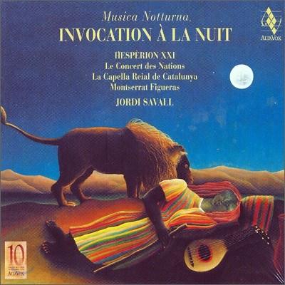 Jordi Savall 한밤의 기도  - 알리아 복스 10주년을 기념음반 (Invocation a la nuit)