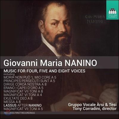 Gruppo Vocale Arsi & Tesi 조반니 마리아 나니노: 4성, 5성, 8성 합창 음악 (Giovanni Maria Nanino: Music for Four, Five & Eight Voices) 그루포 보칼레 아르시 & 테시