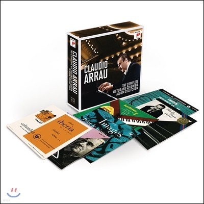 Claudio Arrau 클라우디오 아라우 - RCA 빅터, 콜럼비아 앨범 컬렉션 전집 박스세트 한정반 (The Complete RCA Victor and Columbia Album Collection)