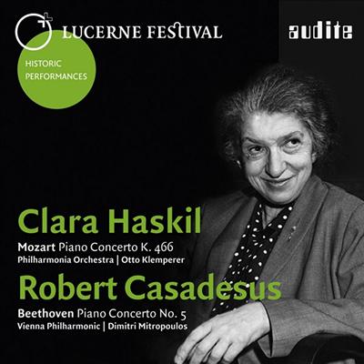 모차르트: 피아노 협주곡 20번 & 베토벤: 피아노 협주곡 5번 '황제' (Mozart: Piano Concerto No.20 & Beethoven: Piano Concerto No.5 'Emperor' - Lucerne Festival Historic Performances Vol. I) - Clara Hask