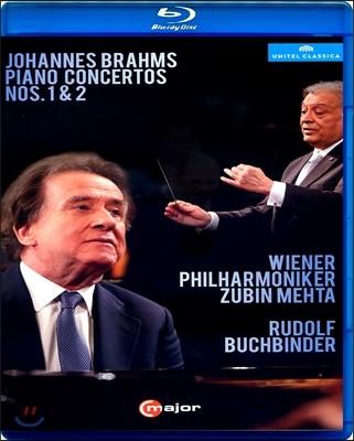 Rudolf Buchbinder / Zubin Mehta 브람스: 피아노 협주곡 1번, 2번 - 주빈 메타, 루돌프 부흐빈더 (Brahms: Piano Concertos Opp.15 & 83) [블루레이]