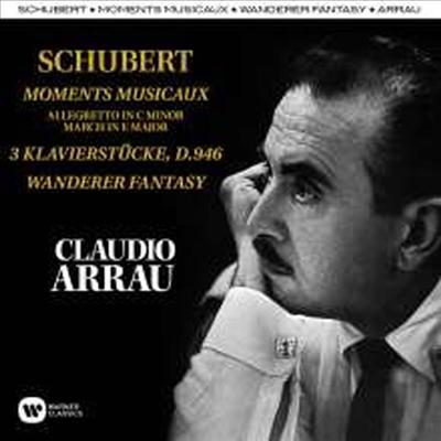 슈베르트: 6개의 즉흥곡 & 방랑자 환상곡 (Schubert: Six Moments Musicaux D780, Op. 94 & Fantasie In C Major, D760 'Wanderer') (2CD) - Claudio Arrau