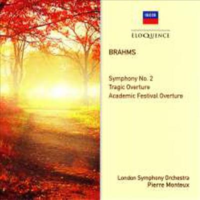 브람스: 교향곡 2번, 비극적 서곡, 대학축전 서곡 (Brahms: Symphony No.2, Overtures) - Pierre Monteux