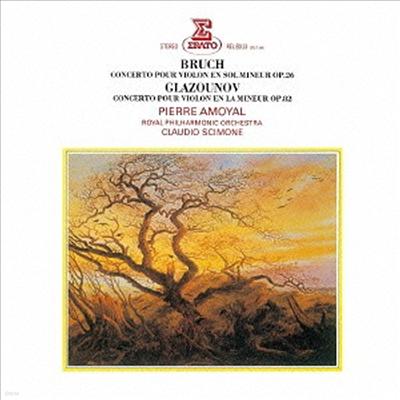 브루흐, 글라주노프: 바이올린 협주곡 (Bruch, Glazounov: Violin Concertos) (Remastered)(일본반) - Pierre Amoyal