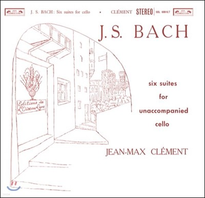 Jean-Max Clement 바흐: 무반주 첼로 모음곡 전곡집 - 장-막스 클레망 (Bach: 6 Cello Suites For Unaccompanied Cello) [2LP]