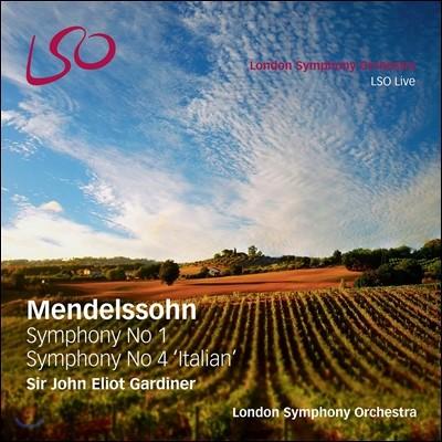 John Eliot Gardiner 멘델스존: 교향곡 1, 4번 '이탈리아' - 존 엘리엇 가디너, 런던 심포니 (Mendelssohn: Symphonies Nos.1 & 4 'Italian')