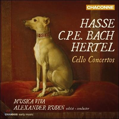 Musica Viva 하세 / C.P.E. 바흐 / 헤르텔: 첼로 협주곡집 (Hasse / C.P.E. Bach / Hertel: Cello Concertos) 무지카 비바, 알렉산더 루딘