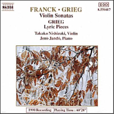 프랑크 & 그리그 : 바이올린 소나타 (Franck & Grieg : Violin Sonatas) - Takako Nishizaki
