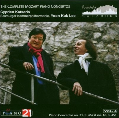 Cyprien Katsaris / 이윤국 - 모차르트: 피아노 협주곡 전곡 4집 - 16, 21번 (Mozart: The Complete Piano Concertos Vol.4) 치프리앙 카차리스