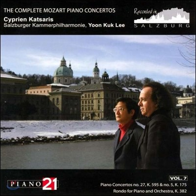 Cyprien Katsaris / 이윤국 - 모차르트: 피아노 협주곡 전곡 7집 - 27, 5번 (Mozart: The Complete Piano Concertos Vol.7) 치프리앙 카차리스