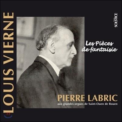 Pierre Labric 루이 비에른: 오르간 작품 3집 (Louis Vierne: The Complete Organ Work, Vol.3)