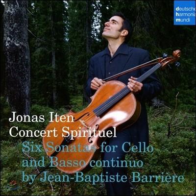 Jonas Iten 장-밥티스트 바리에르: 첼로와 통주저음을 위한 여섯 개의 소나타 (Jean-Baptiste Barriere: Six Sonatas for Cello & Basso Continuo) 요나스 아이텐