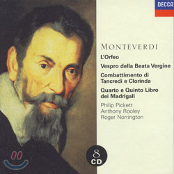Monteverdi : L'Orfeo etc. : PickettㆍRooleyㆍNorrington