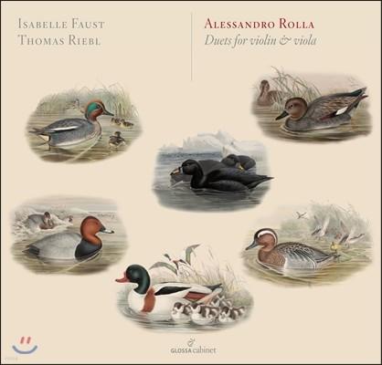 Isabelle Faust 알레산드로 롤라: 바이올린과 비올라를 위한 이중주 작품집
