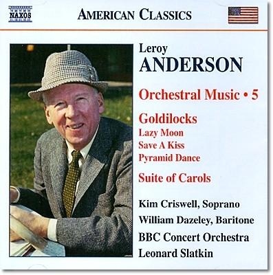 Leonard Slatkin 르로이 앤더슨: 뮤지컬 금발미녀 발췌, 캐럴 모음곡 (Leroy Anderson: Orchestral Music Volume 5)