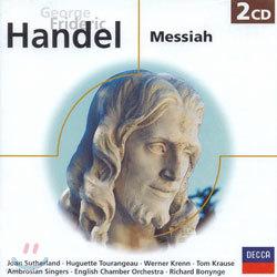 Handel : Messiah : Richard BonyngeㆍSutherlandㆍTourangeauㆍKrennㆍKrauseㆍColeman