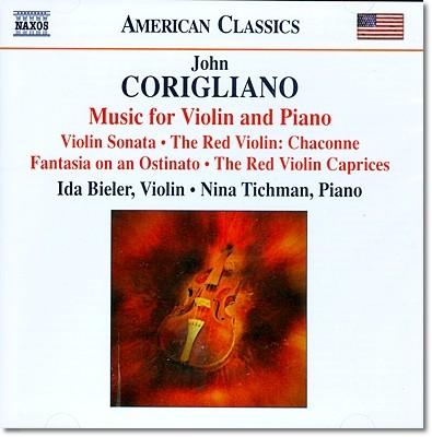 코릴리아노 : 바이올린소나타, 레드바이올린 카프리스 외