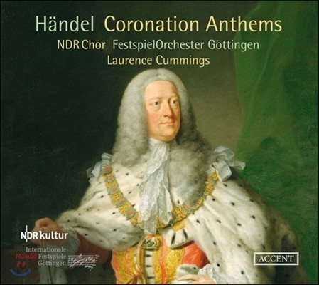 Laurence Cummings 헨델: 대관식 찬가, 에스더의 합창곡들 (Handel: Coronation Anthems) 로렌스 커밍스, NDR 합창단